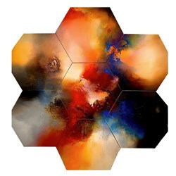 Cloak (Heptaptych) by Simon Kenny -  sized 63x59 inches. Available from Whitewall Galleries